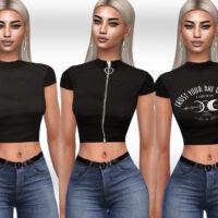 Black Style Tops by Saliwa Sims 4 CC 1