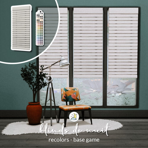 Blinds de Nuit Sims 4