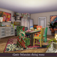 Bohemian Dining room by evi 1
