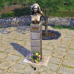 Bust of Dalida Sims 4 Studio