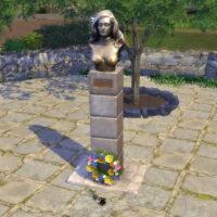 Bust of Dalida Sims 4 Studio