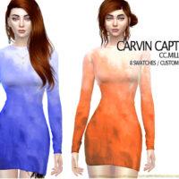 CC Milla Sims 4 Dress