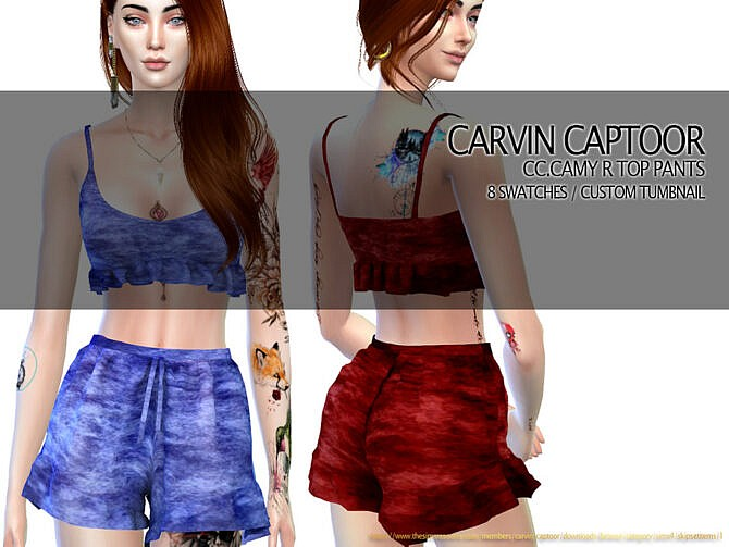Camy R Pants Set by carvin captoor