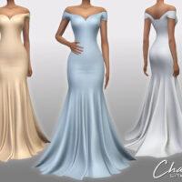 Chantal Dress by Sifix Sims 4 CC