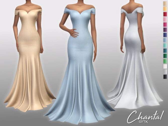 Chantal Dress by Sifix Sims 4 CC