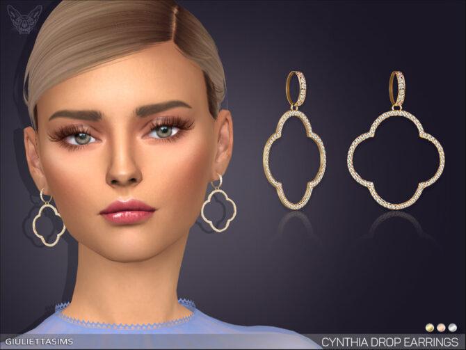 Cynthia Drop Earrings for Sims 4