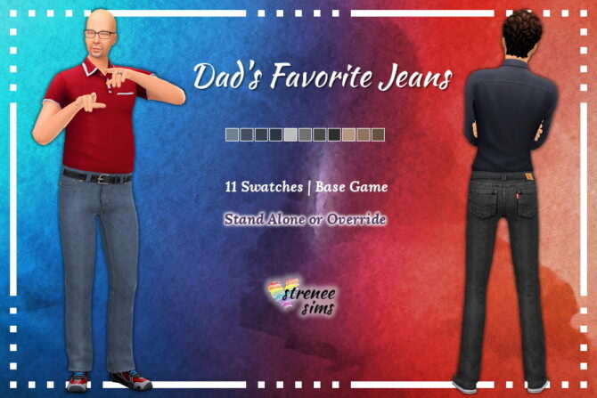 Dads Favorite Jeans Sims 4