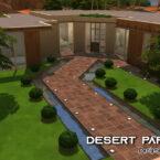 Desert paradise Sims 4 house by iSandor