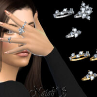 Diamond cluster Sims 4 rings