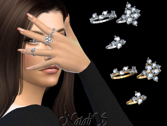 Diamond cluster Sims 4 rings