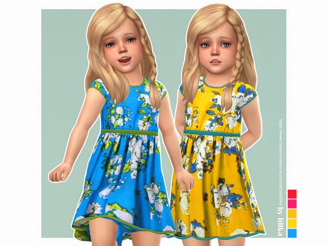 Dinah Dress For Sims 4 Toddler Girls by lillka