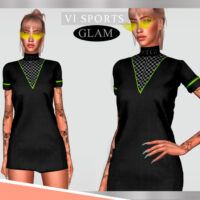 Dress SPORTGLAM VI by Viy Sims 4