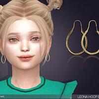 Earrings Sims 4 For Kids Leona Hoops