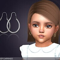 Earrings Sims 4 For Toddlers Leona Hoops