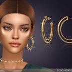 Echo Hoop Sims 4 Earrings by feyona