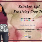 Eco Living Crop Top Sims 4