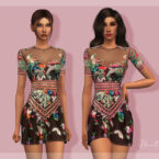 Embellished Dress by laupipi Sims 4 CC