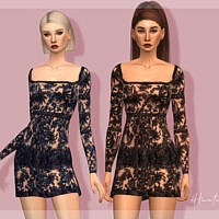 Embellished Sims 4 Dress DR388 by laupipi