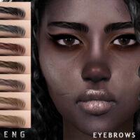 Eyebrows N105 Sims 4 by Seleng