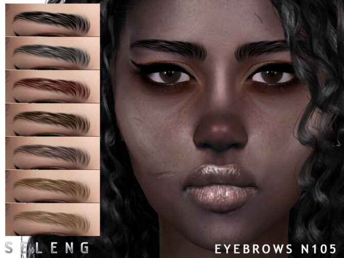 Eyebrows N105 Sims 4 by Seleng