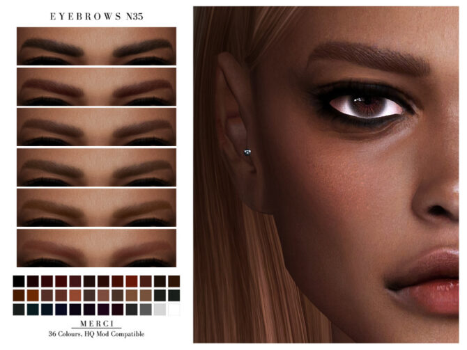 Eyebrows N35 by Merci Sims 4 CC