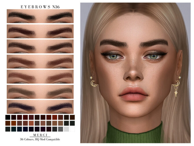 Eyebrows N36 Sims 4 CC