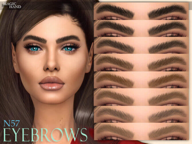 Sims 4 Eyebrows N57 by MagicHand at TSR