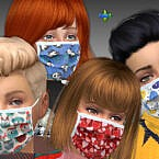 Face Masks For Children By Mabra Sims 4