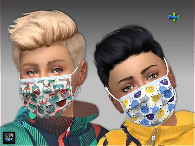Sims 4 Face masks for kids by Mabra at Arte Della Vita