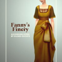 Fannys finery Sims 4 gown