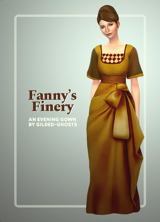 Sims 4 Fanny's finery gown at Gilded Ghosts