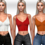 Female Casual Wool Sims 4 Tops