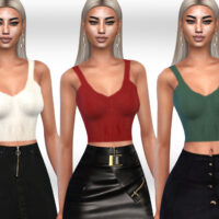 Female Wool Crop Tops Sims 4