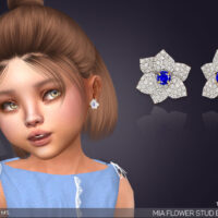 Flower Stud Sims 4 Earrings For Toddlers