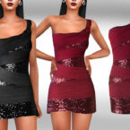 Formal Sequin Dresses by Saliwa for Sims 4