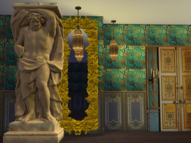 Giant Atlant Statues SIMS 4
