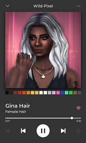 Gina Sims 4 Hair