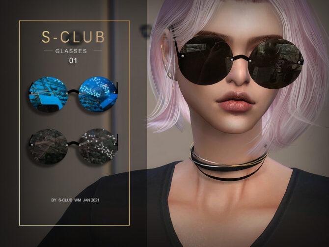 Glasses by S Club WM Sims 4 CC