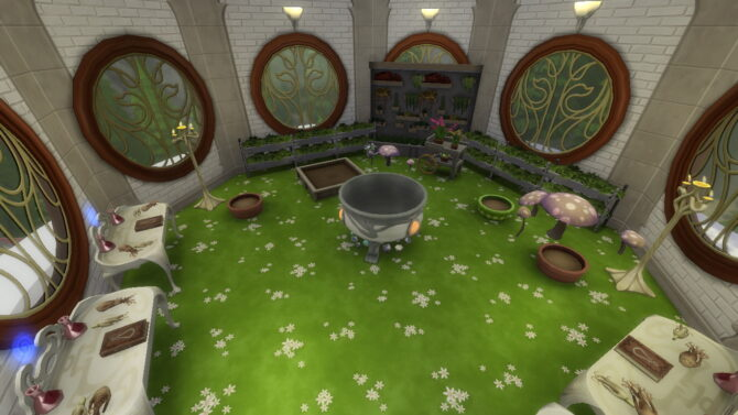 Sims 4 Glimmerbrook Magic School by Bellusim at Mod The Sims