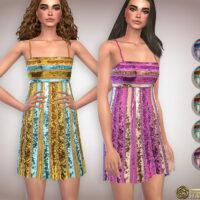 Glittering Midi Sims 4 Formal Dress