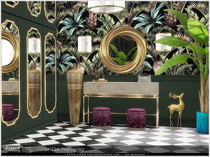 Sims 4 Grande hallway by Severinka at TSR
