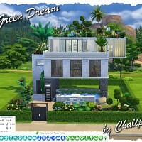 Green Dream Sims 4 Home By Chalipo