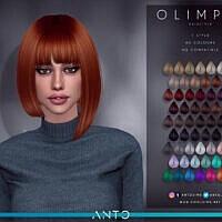 Hair Sims 4 Asymmetrical Bob Olimpia