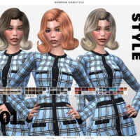 Harmon Sims 4 Hairstyle by Leah Lillith