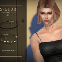 Heart Choker Sims 4 by S Club WM