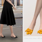 Heel Sims 4 shoes with bow