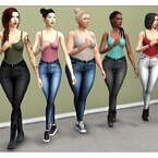 High Waisted Acc Jeans Mod The Sims 4
