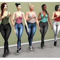 High Waisted Acc Jeans Mod The Sims 4