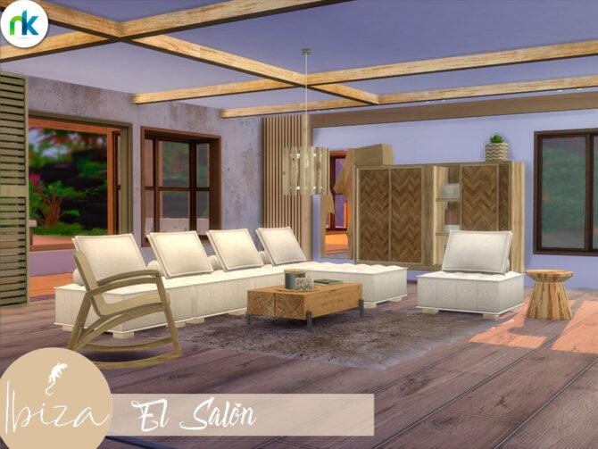 Ibiza Living Room by Nikadema Sims 4