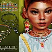 Insightful Sims 4 Necklace Kids